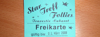 Freikarte Startreff Follies